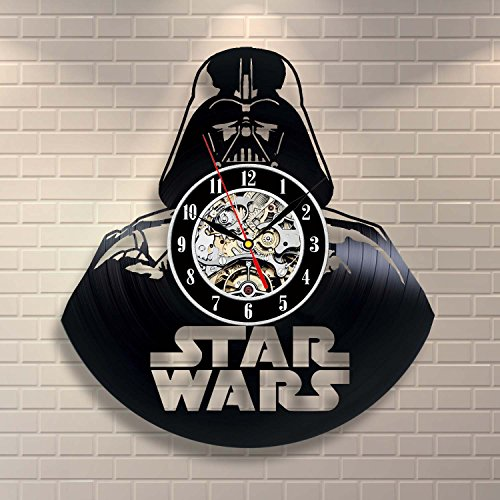 Darth Vader Art Vinyl Record Clock Wall Decor Home Design