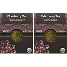 Organic Elderberry Tea - Caffeine Free - 18 Bleach Free Tea Bags (Pack of 2)