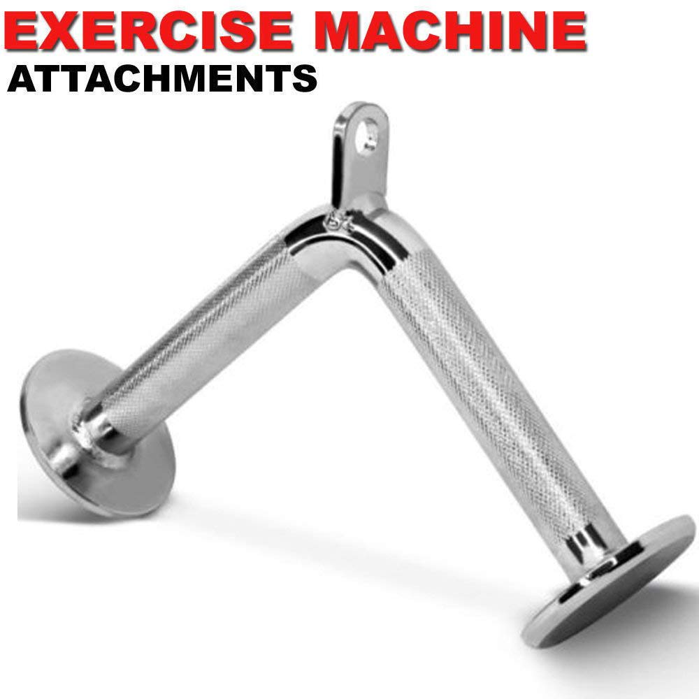 FITNESS MANIAC Home Gym Cable Attachment Handle Machine Exercise Chrome PressDown Strength Training Home Gym Attachments 30 inch Curl Bar Set (7 Pieces Set) by FITNESS MANIAC (Image #6)