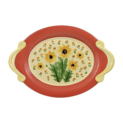 Pfaltzgraff Oval Plates - Pfaltzgraff Pistoulet Oval Le Petite Sunflower Plate