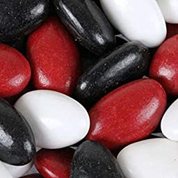 Red, Black & White Jordan Almonds 1LB Bag