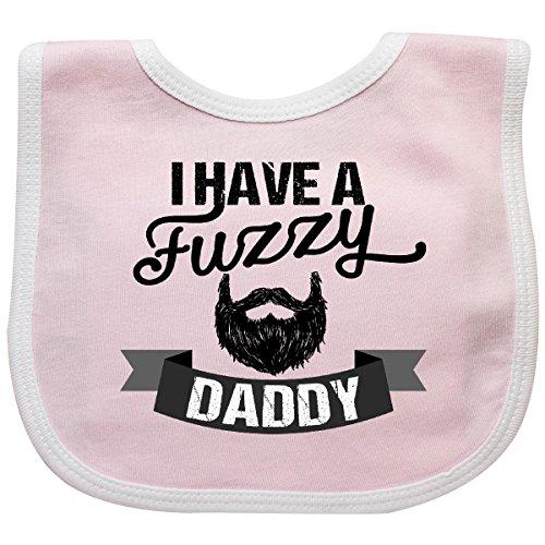 Inktastic I Have a Fuzzy Daddy Beard Baby Bib Pink/White]()