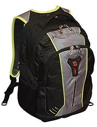 "SwissGear THE JUPITER 16"" Padded Laptop Backpack Black-Grey"