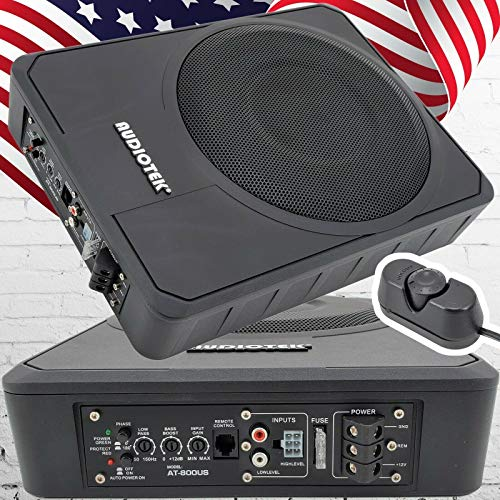 "Audiotek 10"" 400W RMS Slim Under-Seat Active Power Audio Car/Truck"