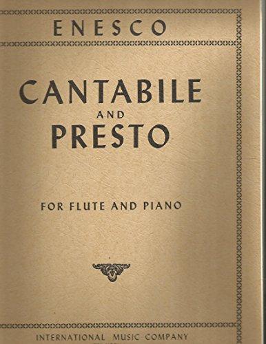 Georges Enesco Cantabile & Presto for Flute & Piano International Music - Cantabile Flute
