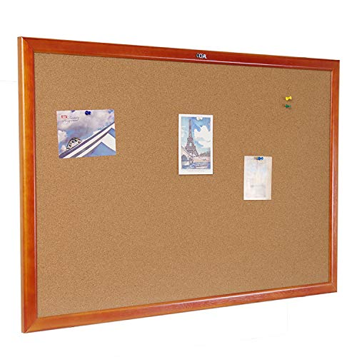 Cork Board 36 x 48 Inch Bulletin Board, Notice Board 100% Wood Framed Brazil Imported, Mounting Hardware Push Pins Included from gideal
