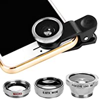 Xinnio Universal 3 in 1 Camera Lens 0.67X Wide Angle...