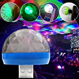 Baost 1Pc Creative Mini Atmosphere Disco Ball Light RGB LED Magic Stage Lamp USB Powered Led Stage Party Ball DJ Lighting for Home Brithday Party Wedding Show Pub Green for Android