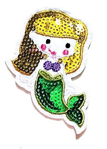3'' X 2.5'' Little Mermaid Gold Hair Green Tail
