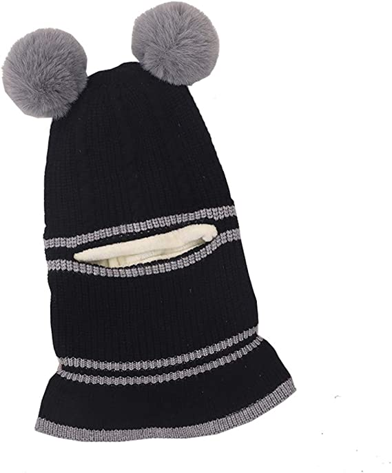 Tusong Unisex Baby Toddle Kids Winter Hat Scarf Earflap Hood Scarves Skull Caps