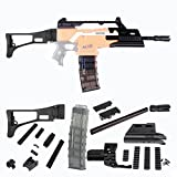 Worker Mod F10555 3D Printing No.116 XM8-S Kits Combo 10 Items for Nerf Stryfe Modify Parts Toy Color Black(Blaster not included)