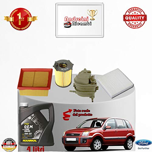 Service kit filters + fuel oil 1.6 TDCI 66KW 90CV from 2005 -> 2012: