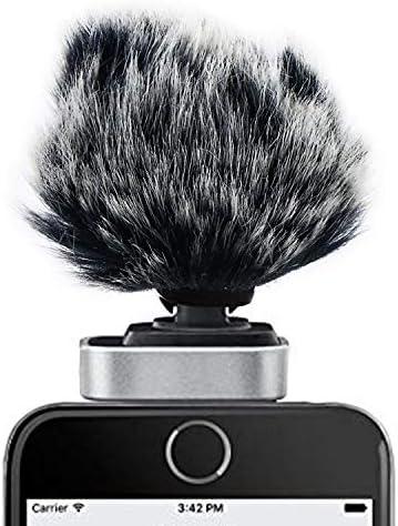 [スポンサー プロダクト]Shure MV88 ヘアリーウィンドスクリーン 、屋外用防风、雑音低減、マイク アクセサリ、ハンディレコーダー マッアクセサリ SUNMON