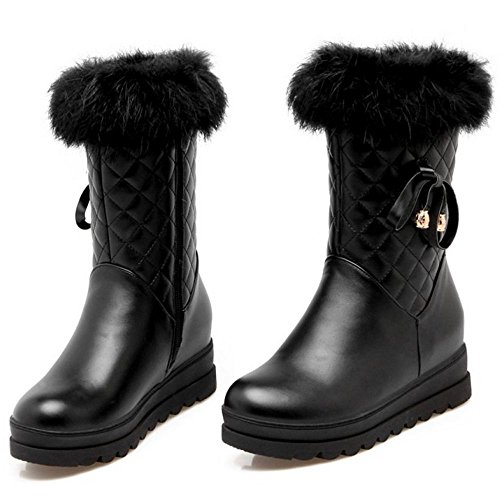 TAOFFEN Warm Boots Black Lined Zipper Women pS7npaqP