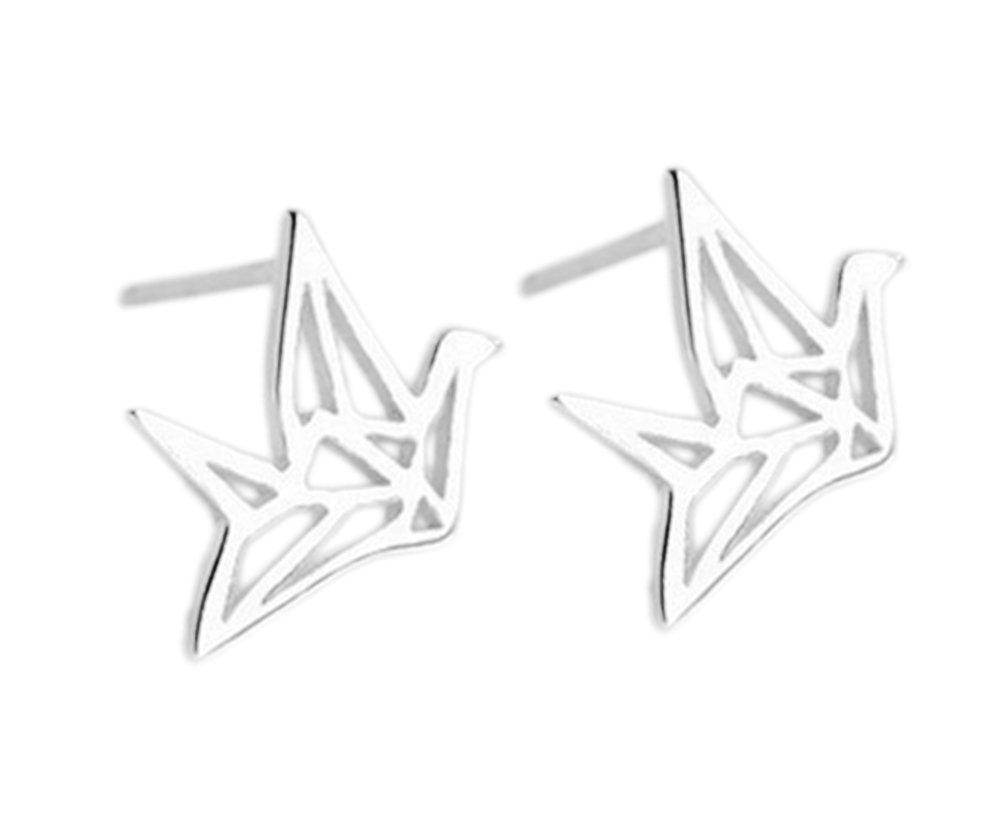 Hosaire Boucles d'oreilles de Forme de oiseau creux mignonne et kawaii en oreilles percées Bijoux Cadeaux de l'amour