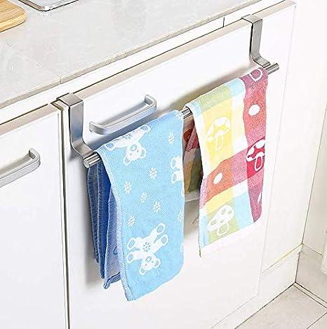 DDLBiZ Barra Porta Strofinacci o Asciugamani con Gancio per sportelli o cassetti color1