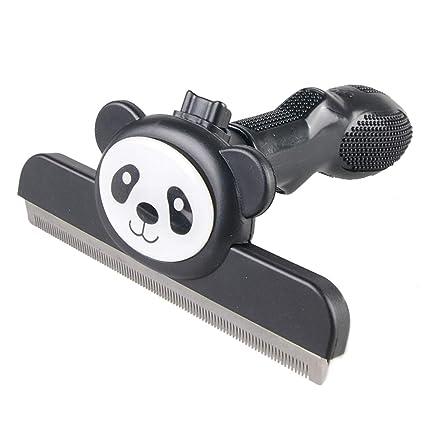 MRXUE Panda Patrón De Perro Y Gato Pelo Eliminación Auto Limpieza Cepillo De Belleza Peine De