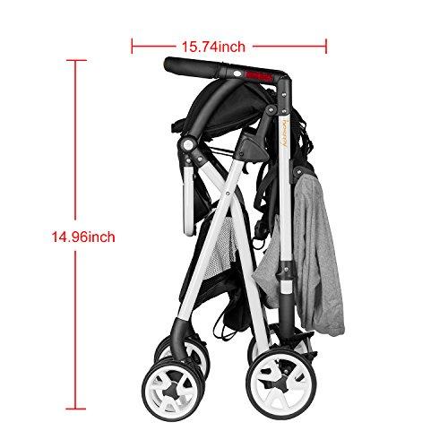 Besrey Lightweight Foldable Baby Stroller - Gray by besrey (Image #7)