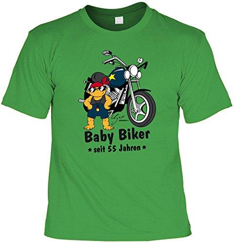 T-Shirt - Biker Baby Seit 55 Jahren - lustiges Sprüche Shirt als Geschenk zum 55. Geburtstag