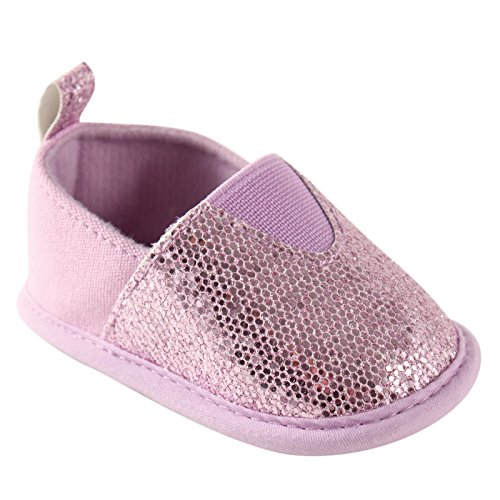 Luvable Friends Girl's Sparkly Slip-On (Infant), Lavender, 12-18 Months M