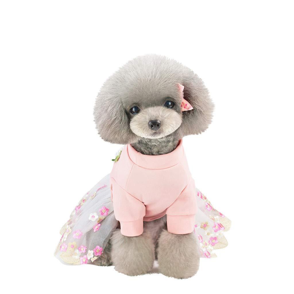 Tianya Ropa para mascotas pequeñas Ropa de gasa transpirable Imprimir Vestido transpirable fresco Encantador Fuerte Saludable (Rosa): Amazon.es: Bricolaje y ...