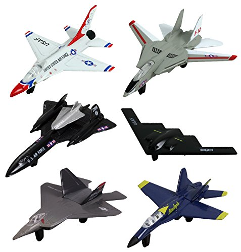 InAir Modern Planes 6-pc Set with Aircraft ID Guide - Assortment 1
