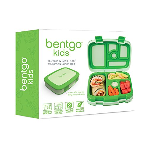 Bentgo Kids Childrens Lunch Box - Bento-Styled Lunch Solution Offers Durable, Leak-Proof, On-the-Go Meal and Snack Packing