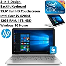 HP Envy High Performance 2-in-1 Convertible 15.6 inch FHD Touchscreen Backlit Keyboard Laptop PC| Intel Core i5-6200U Dual-Core| 12GB RAM| 1TB HDD| WIFI| Bluetooth| Windows 10 (Silver)