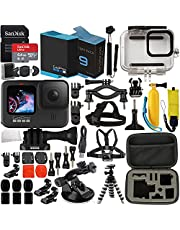 $519 » GoPro HERO9 (Hero 9) Action Camera (Black) with Premium Accessory Bundle – Includes: SanDisk Ultra 64GB microSD Memory Card, Spare Battery, Underwater Housing, Carrying Case, & Much More