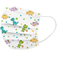 50Pcs Cute Dinosaur Printed Kids Disposable_Face_Masks 3 Layer Face Protection Against Droplet Anti-Particle and Dust…
