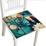 "Best Brookstone Bath Towels - Classic Decorative Chair pad (32""x32""x2pcs, Seat Cushions Garden Review"