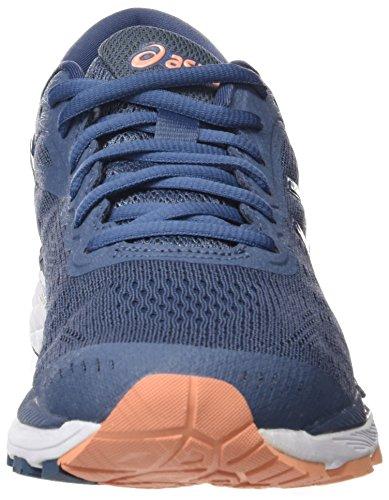 Asics Gel-Kayano 24, Zapatillas de Running Para Mujer Azul (Smoke Blue / Dark Blue / Canteloupe 5649)