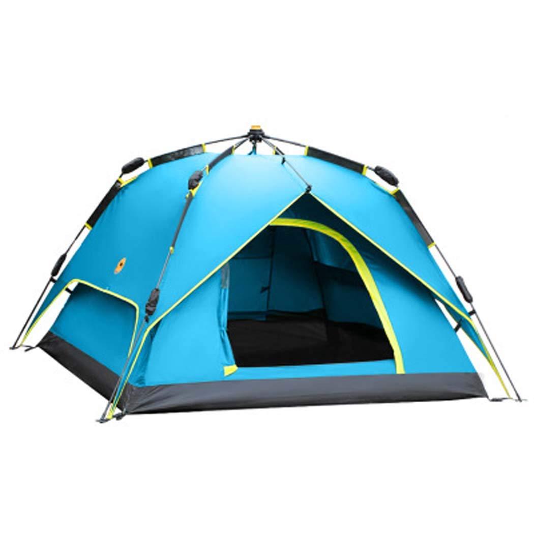 MISS&YG Tente Pop-up pour 3 à 4 Personnes ouvrent automatiquement la Tente-Super dôme étanche avec Porche Protection UV Famille Camping Tente avec fourre-Tout