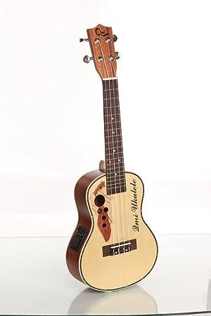 XIE@23 pulgadas caja eléctrica abeto Sapele ukelele ukelele pequeña color de la madera de la guitarra: Amazon.es: Instrumentos musicales