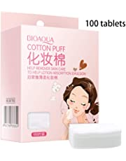 Viesky 100 Stück/Box Gesichtspads Makeup Remover Wipes Organic Cleansing Beauty Nagellack Kosmetik Weiche dünne Haut Pflege Reiniger Maniküre Kunst Lidschatten Entfernt
