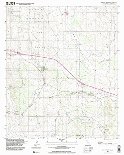 Live Oak Springs CA topo map, 1:24000 scale, 7.5 X 7.5 Minute, Historical, 1997, updated 2003, 26.9 x 21.5 IN - - Ca Map Calexico