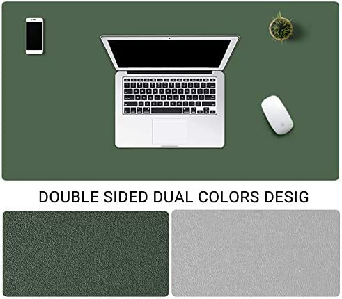 51x26inch Pu Leather Desk Blotter Office Desk Mat Writing Gaming Mouse Pad with Comfortable Writing Surface Waterproof-Black 130x65cm