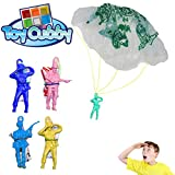 Toy Cubby Assorted Color Vinyl Paratroopers. 72 pcs