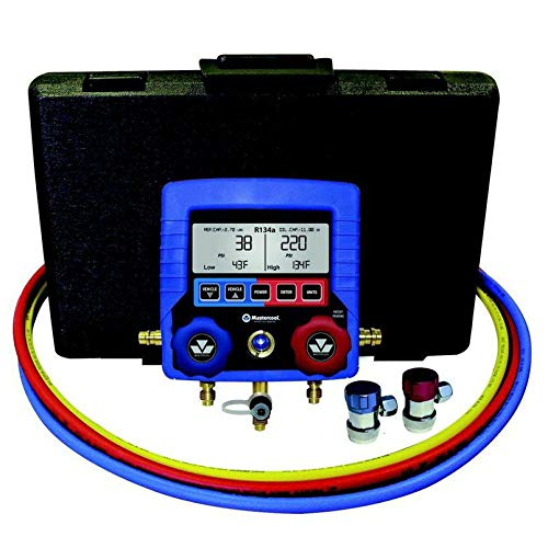 MASTERCOOL (99872-A Blue R134A Digital Manifold Gauge Set with 72