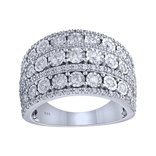 Sterling Silver 1cttw Diamond Anniversary Ring by Bridal Symphony