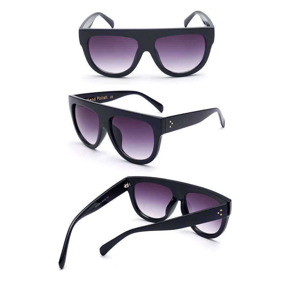 UVC 99/% Leopard Black + Black Mein HERZ 2 Pzs Leopardo Negro Gafas de Sol Espejo para las Mujeres Polarizadas Gafas de Sol Femeninas Gafas de Sol Vintage Wayfarer Blocks UVA UVB