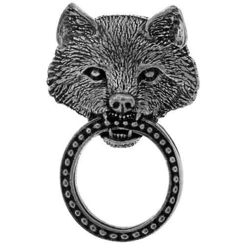 Sunglasses Eyeglasses Holder Pewter Jacket Pin Wolf Bear Design