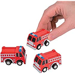 Fun Express Fire Truck Firetruck Engine Pullbacks Toy - 12 pieces