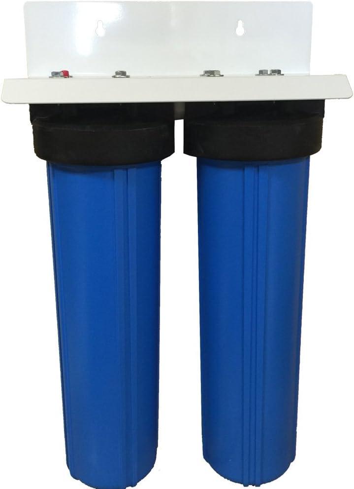 AFWFilters CF2-4520-DIDI-PENTEK 20-inch 2 Stage Upgraded PENTEK Big Blue Whole House Dual DI Resin Filters
