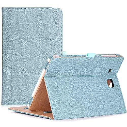 ProCase Samsung Galaxy Tab E 9.6 Case – Vintage Stand Folio Case Cover for Galaxy Tab E 9.6/ Tab E Nook 9.6-Inch Tablet (SM-T560 / T561 / T565 and SM-T567V Verizon 4G LTE Version) -Teal