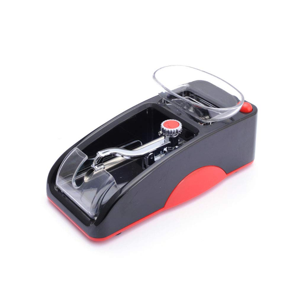 Small ABS Easy to Carry Electric Automatic Cigarette Rolling Machine Tobacco Maker Homemade Durable Home Use,Red