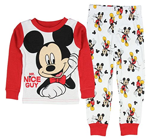 AME Sleepwear Disney Mickey Mouse Little Boys Toddler Long Sleeve Pajama Set 3T