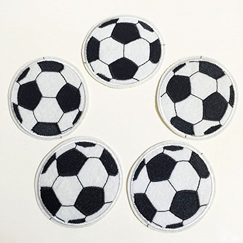 Set of 10 pcs Soccer Sports Iron On Sew On Cloth Embroidered Patches Appliques Machine Embroidery Needlecraft Sewing Projects DIY