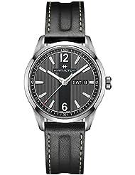 Mens Hamilton Broadway Day Date Quartz Leather Watch H43311735