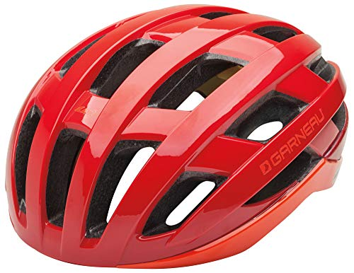 Louis Garneau Hero Adjustable, Lightweight, CPSC Safety Certified Bike Helmet for Men and Women, Red, ()